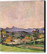 The Chaine De Letoile With The Pilon Du Canvas Print by Paul Cezanne