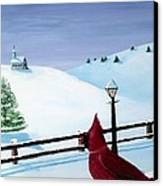 The Christmas Cardinal Canvas Print by Spencer Hudon II