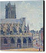 The Church Of St Jacques In Dieppe Canvas Print by Camille Pissarro