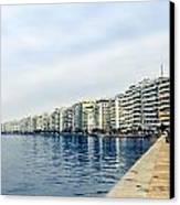 The City Of Thessaloniki. Canvas Print