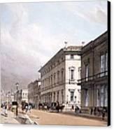 The Club Houses, Pall Mall, 1842 Canvas Print by Thomas Shotter Boys