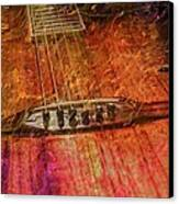 The Color Of Music Digital Guitar Art By Steven Langston Canvas Print by Steven Lebron Langston