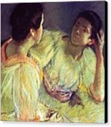 The Conversation Canvas Print by Mary Stevenson Cassatt
