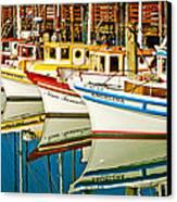 The Crab Fleet Canvas Print by Bill Gallagher