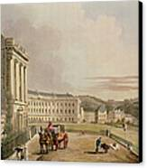 The Crescent, Detail Of The Street Canvas Print
