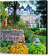 The Crescent Hotel In Eureka Springs Arkansas Canvas Print by Gregory Ballos