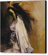 The Dancer Canvas Print by Diane Kraudelt