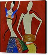The Dancing Lady Canvas Print by Shruti Prasad