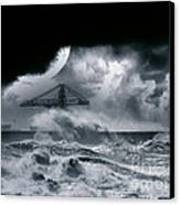 The Dark Storm Canvas Print by Boon Mee