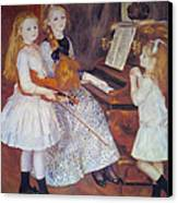 The Daughters Of Catulle Mendes Canvas Print by Pierre Auguste Renoir