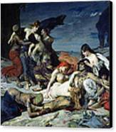 The Death Of Ravana Canvas Print by Fernand Cormon