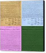 The Declaration Of Independence In Colors Canvas Print by Rob Hans