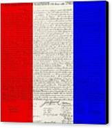 The Declaration Of Independence In Red White Blue Canvas Print by Rob Hans