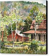 The Delonde Homestead At Caribou Ranch Canvas Print by Anne Gifford