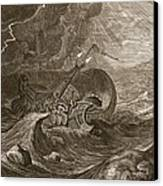 The Dioscuri Protect A Ship, 1731 Canvas Print by Bernard Picart