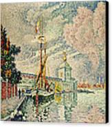 The Dogana Canvas Print by Paul Signac