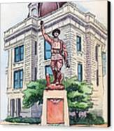 The Doughboy Statue Canvas Print