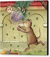 The Dream Cat 16 Canvas Print by Kestutis Kasparavicius