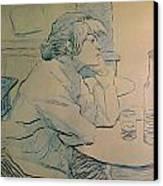 The Drinker Or An Hangover Canvas Print by Henri de Toulouse-lautrec