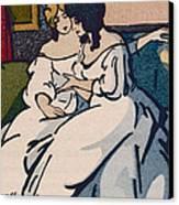 The Duchesse De Langeais Visiting The Vicomtesse De Beauseant Canvas Print by Quint