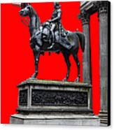 The Duke Of Wellington Red Canvas Print