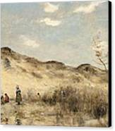 The Dunes Of Dunkirk Canvas Print by Jean Baptiste Camille Corot