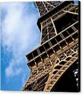 The Eiffel Tower From Below Canvas Print by Nila Newsom