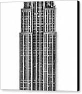 The Empire State Building Canvas Print by Luciano Mortula