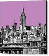 The Empire State Building Pantone African Violet Canvas Print