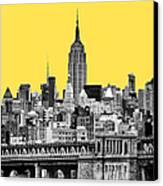 The Empire State Building Pantone Yellow Canvas Print by John Farnan