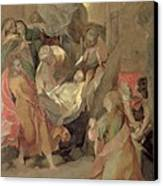 The Entombment Of Christ Canvas Print by Barocci