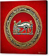 The Eye Of Horus Canvas Print by Serge Averbukh