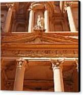 The Facade Of Al Khazneh In Petra Jordan Canvas Print by Robert Preston