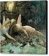 The Fairies From William Shakespeare Scene Canvas Print