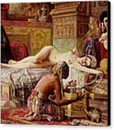 The Favorite Of The Harem Canvas Print by Gyula Tornai