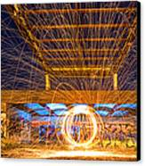 The Fireball Canvas Print by Arthit Somsakul