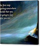 The First Step Canvas Print by Mike Flynn
