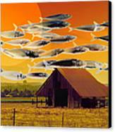 The Fish Farm 5d24404 Square Canvas Print