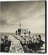The Fishermen's Hut Canvas Print by Marco Oliveira