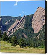 The Flatirons Canvas Print by Bob Hislop