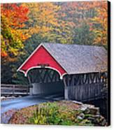 The Flume Covered Bridge Canvas Print