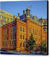 The Franklin School - Washington Dc Canvas Print by Mountain Dreams