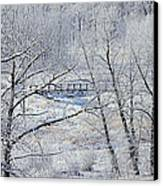 The Frozen Bridge Canvas Print by Maria Angelica Maira