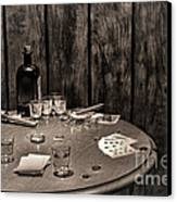 The Gambling Table Canvas Print