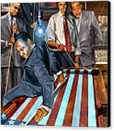 The Game Changers And Table Runners Canvas Print by Reggie Duffie