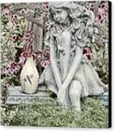 The Garden Fairy Canvas Print by Peggy Hughes