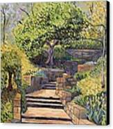 The Garden Stairs Canvas Print by Don Perino