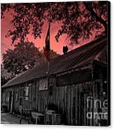 The General Store In Luckenbach Texas Canvas Print by Susanne Van Hulst