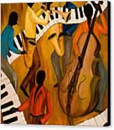 The Get-down Jazz Quintet Canvas Print