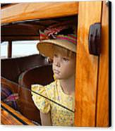 The Girl The Hat The Woodie Canvas Print by Ron Regalado